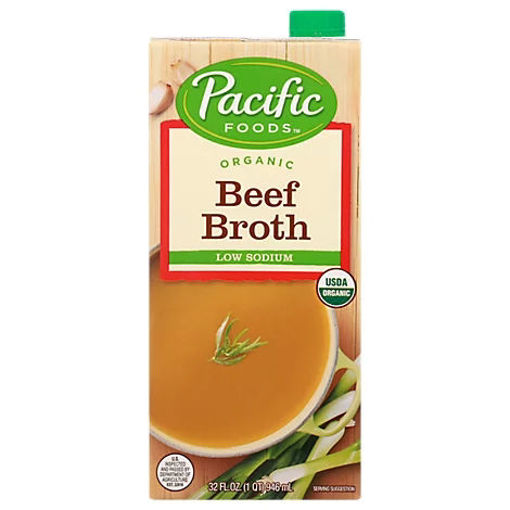 Picture of Pacific Organic Broth Beef Low Sodium - 32 Fl. Oz.