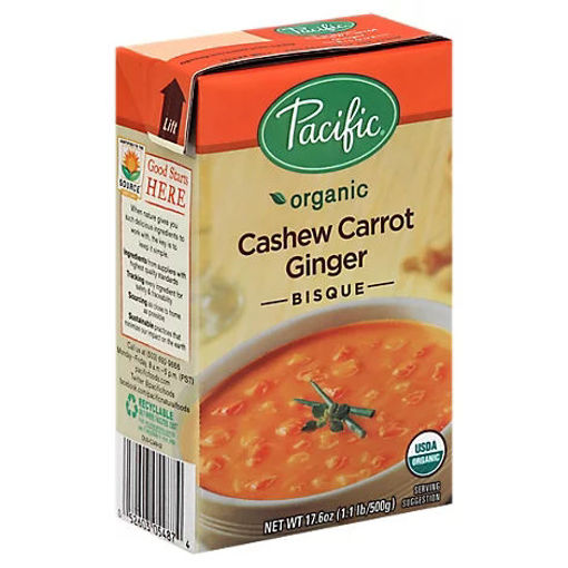 Picture of Pacific Organic Soup Bisque Cashew Carrot Ginger - 17.6 Oz