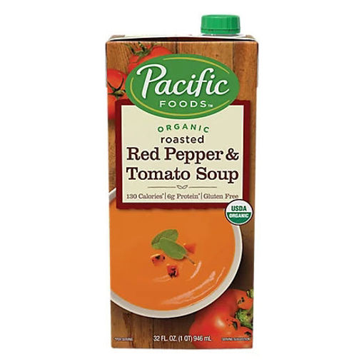 Picture of Pacific Organic Soup Roasted Red Pepper & Tomato - 32 Fl. Oz.