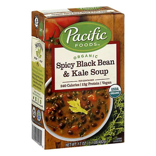 Picture of Pacific Organic Soup Spicy Black Bean & Kale - 17 Oz