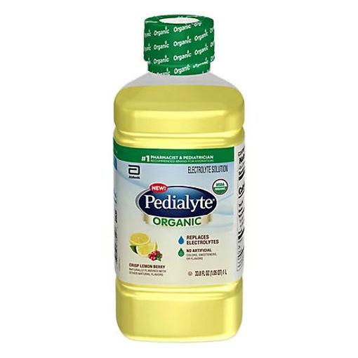 Picture of Pedialyte Organic Crisp Lemon Berry 1 Liter Bottle - 33.8 FZ