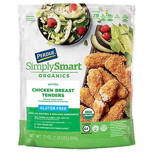 Picture of PERDUE Simply Smart Organics Chicken Breast Tenders Breaded Gluten Free - 22 Oz