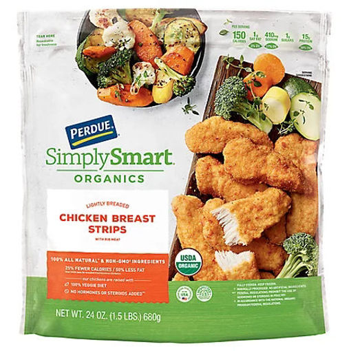 Picture of PERDUE Simply Smart Organics Chicken Breast Strips Lightly Breaded - 24 Oz