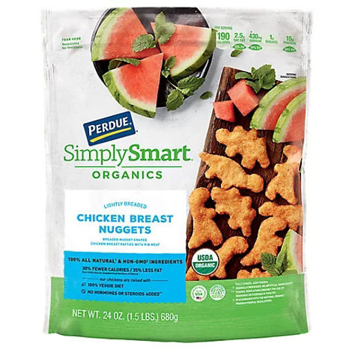 Picture of PERDUE Simply Smart Organics Chicken Breast Nuggets Lightly Breaded - 24 Oz