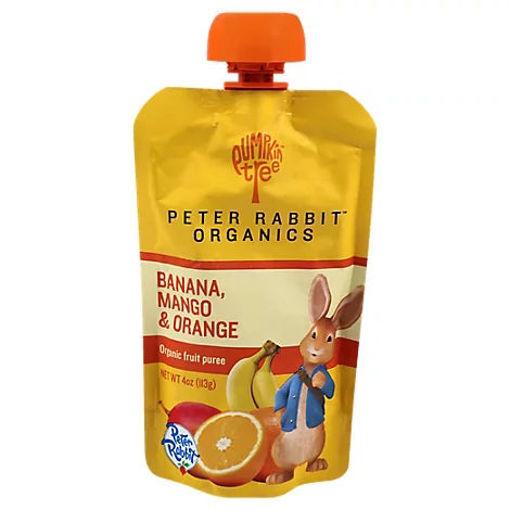 Picture of Peter Rabbit Organics Snack Fruit Pure Mango Banana & Orange - 4 Oz