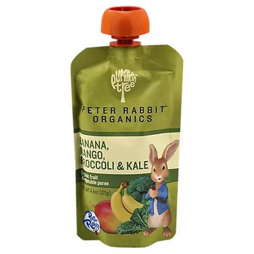 Picture of Peter Rabbit Organics Snack Vegetable Fruit Pure Kale Broccoli & Mango - 4.4 Oz