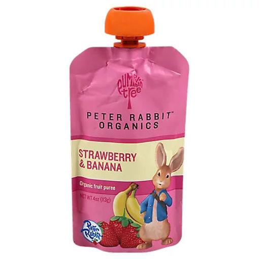 Picture of Peter Rabbit Organics Strawberry Banana Fruit Blend 4oz - Each