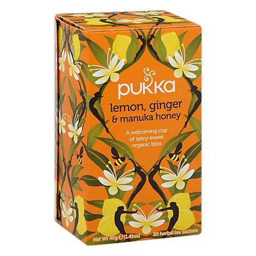 Picture of Pukka Herbal Tea Organic Lemon Ginger & Manuka Honey - 20 Count