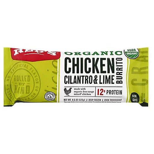 Picture of Reds Organic Chicken Cilantro Lime Burrito - 4.5 Oz