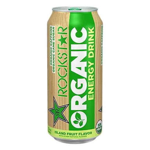 Picture of Rockstar Energy Drink Organic Island Fruit Flavor - 15 Fl. Oz.