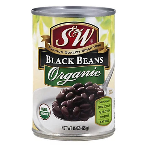 Picture of S&W Organic Beans Black - 15 Oz