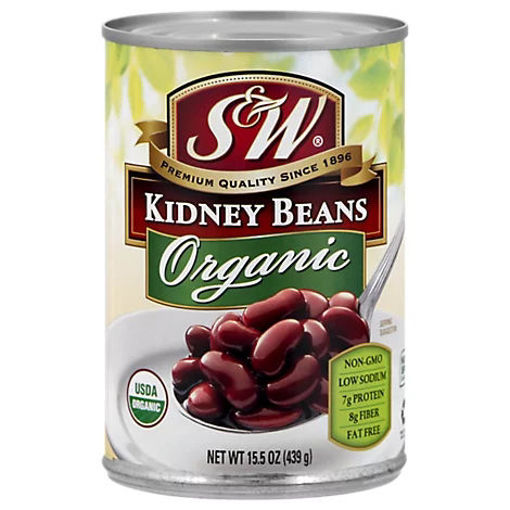 Picture of S&W Organic Beans Kidney - 15.25 Oz