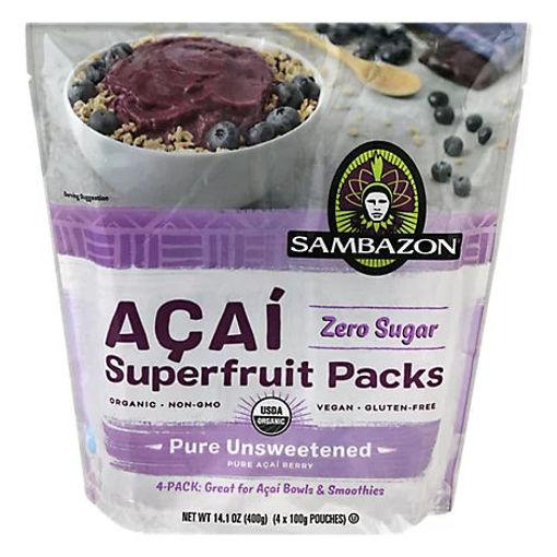 Picture of Sambazon Organic Superfruit Packs Pure Unsweetened Blend Acai - 4-3.5 Oz