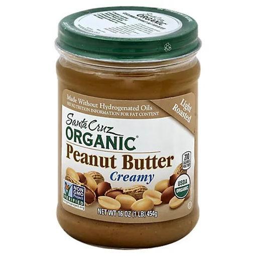 Picture of Santa Cruz Organic Peanut Butter Light Roasted Creamy - 16 Oz