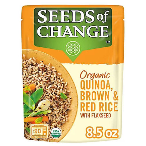 Picture of Seeds of Change Organic Quinoa Brown & Red Rice With Flaxseed Pouch - 8.5 Oz