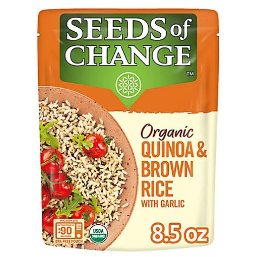 Picture of SEEDS OF CHANGE Organic Rice Brown & Quinoa With Garlic - 8.5 Oz