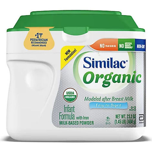 Picture of Similac Organic Infant Formula with Iron Powder - 23.2 Oz