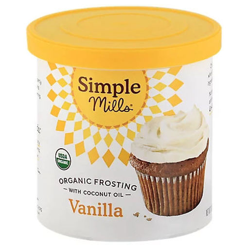 Picture of Simple Mills Organic Frosting Vanilla with Coconut Oil - 10 Oz