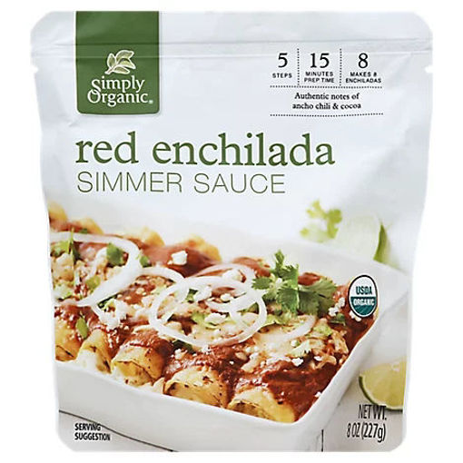 Picture of Simply Organic Simmer Sauce Red Enchilada Pouch - 8 Oz