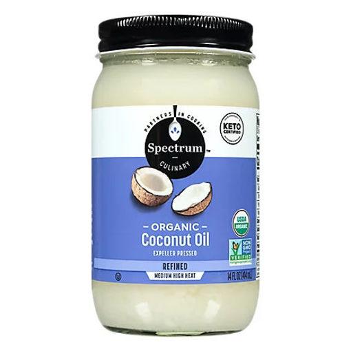 Picture of Spectrum Coconut Oil Organic Refined - 14 Fl. Oz.