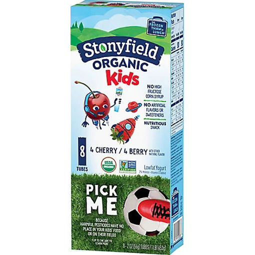 Picture of Stonyfield Organic Kids Yogurt Tubes Lowfat Cherry & Berry Variety Pack - 8-2 Oz