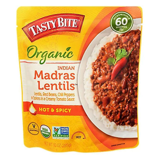 Picture of Tasty Bite Organic Indian Madras Lentils Hot & Spicy - 10 Oz
