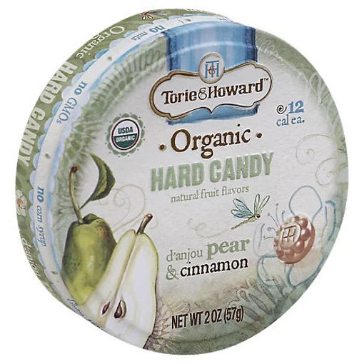 Picture of Torie & Howard Organic Hard Candy Pear & Cinnamon Ntrl Frt Flvr - 2 Oz