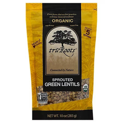 Picture of truRoots Organic Lentils Green Sprouted - 10 Oz