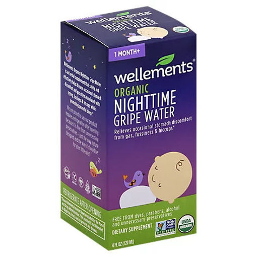 Picture of Wellements Organic Gripe Water Nighttime 1 Month+ - 4 Fl. Oz.