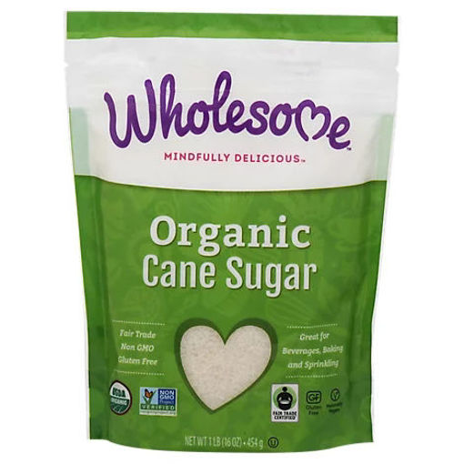 Picture of Wholesome Organic Cane Sugar Pouch - 16 Oz