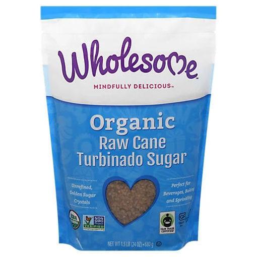 Picture of Wholesome Organic Cane Sugar Raw Turbinado - 24 Oz