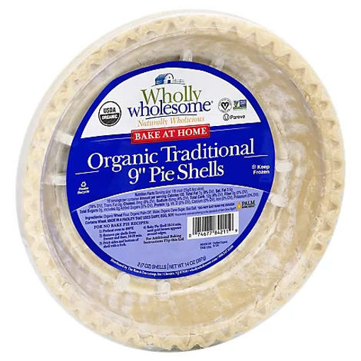 Picture of Wholly Wholesome Organic Pie Shells Traditional 9 Inch - 14 Oz