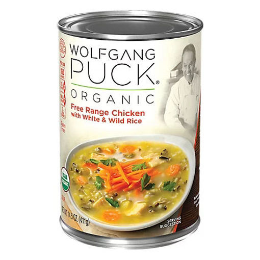 Picture of Wolfgang Puck Soup Organic Free Range Chicken with White & Wild Rice - 14.5 Oz