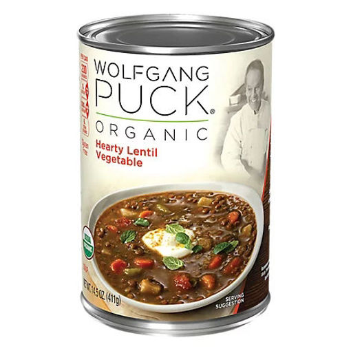 Picture of Wolfgang Puck Soup Organic Hearty Lentil Vegetable - 14.5 Oz