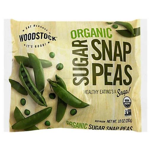 Picture of Woodstock Organic Peas Snap Sugar - 10 Oz